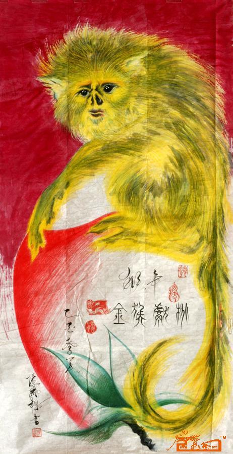 艺术席位 金猴献桃